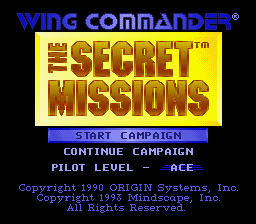 Обложка игры Wing Commander - The Secret Missions