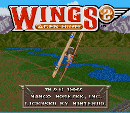 Обложка игры Wings 2 - Aces High  (Super Nintendo - snes)