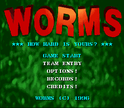 Обложка игры Worms (Super Nintendo - snes)