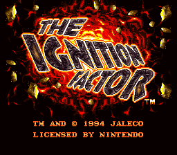Обложка игры Ignition Factor, The (Super Nintendo - snes)
