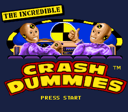 Обложка игры Incredible Crash Dummies, The (Super Nintendo - snes)