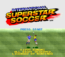 Обложка игры International Superstar Soccer (Super Nintendo - snes)