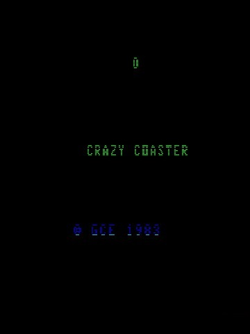 Игра 3-D Crazy Coaster (Vectrex - vect)