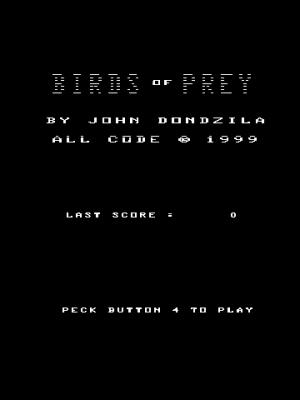Игра Birds of Prey by John Dondzila (Vectrex - vect)